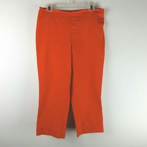 Isaac Mizrahi Live Orange Pants sz 14